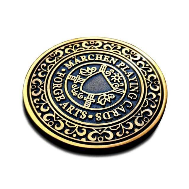 Märchen Dealer Coin Playing Cards by RarePlayingCards.com