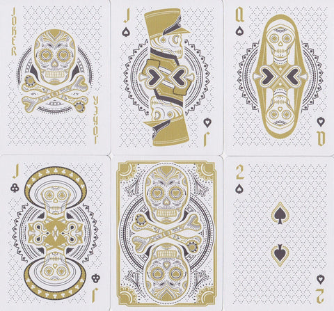 Muertos Mourning Gold Playing Cards by Steve Minty