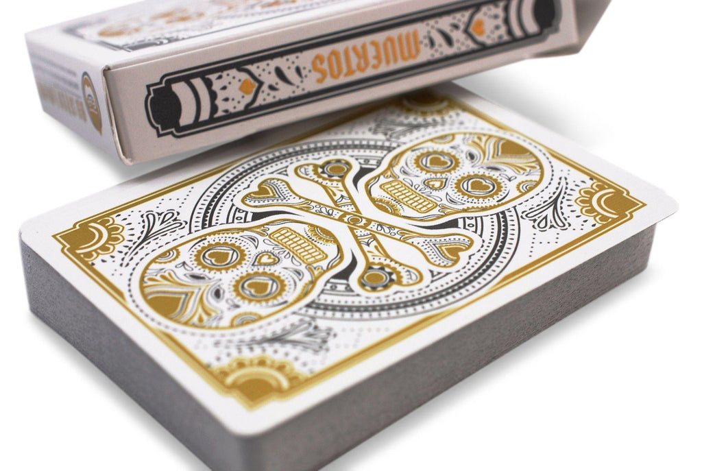 Muertos Mourning Gold Playing Cards - RarePlayingCards.com - 6