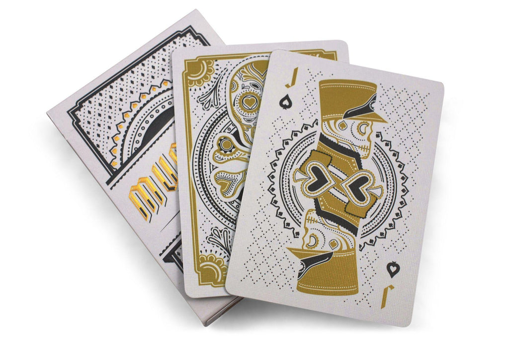 Muertos Mourning Gold Playing Cards - RarePlayingCards.com - 9