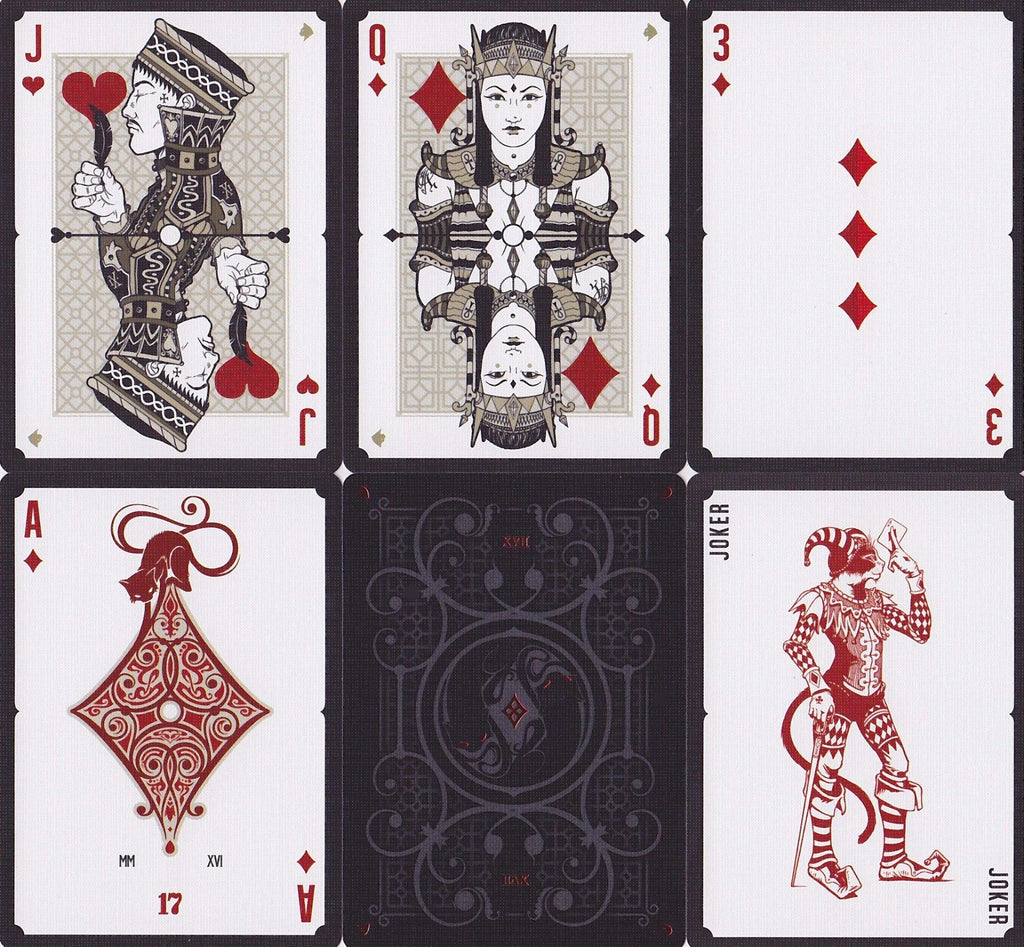 No. 17 Le Chat Rouge Playing Cards by Stockholm 17