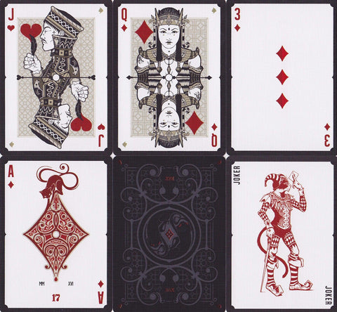No. 17 Le Chat Rouge Playing Cards