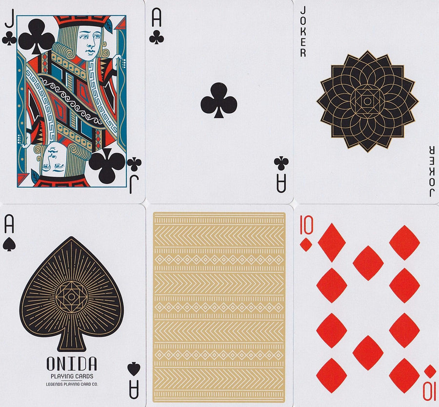 Onida Playing Cards by Legends Playing Card Co.