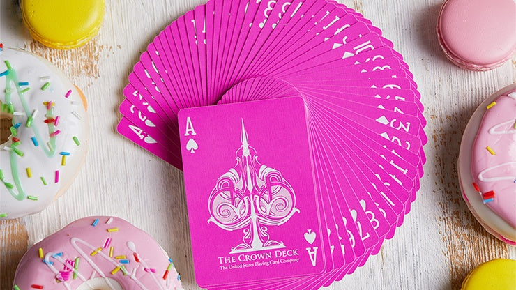 Pink Crown Playing Cards by The Blue Crown