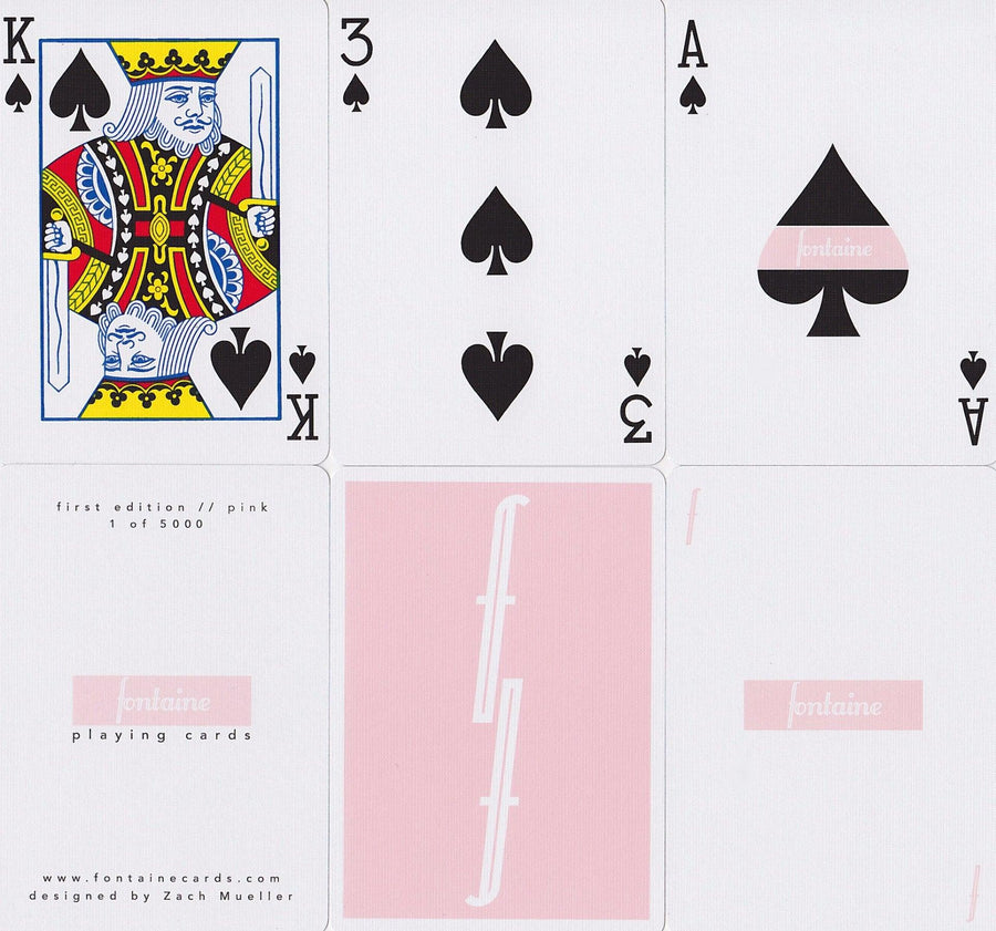 Pink Fontaine Playing Cards by Zach Mueller