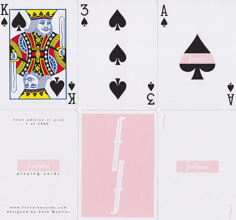 Pink Fontaine Playing Cards - RarePlayingCards.com - 1