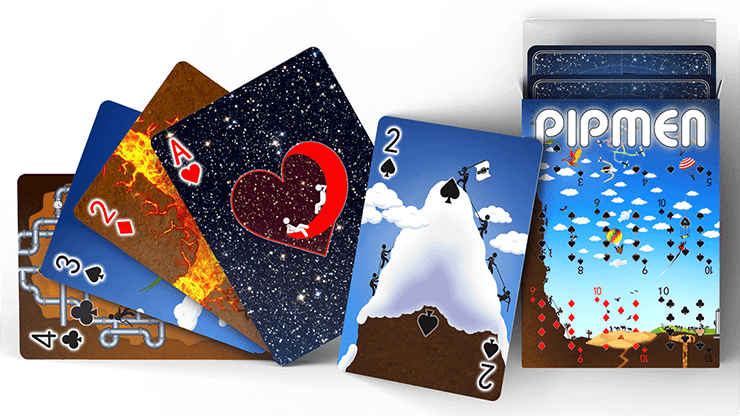 Pipmen Version 2: World Full Art Playing Cards by Elephant Playing Cards