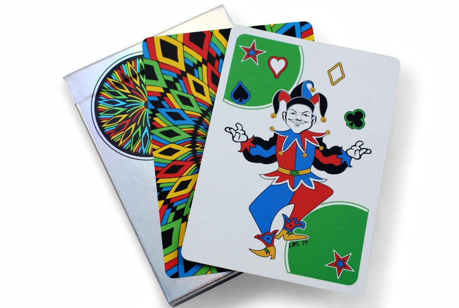 Rainbow Illusion V2 Playing Cards by Legends Playing Card Co.