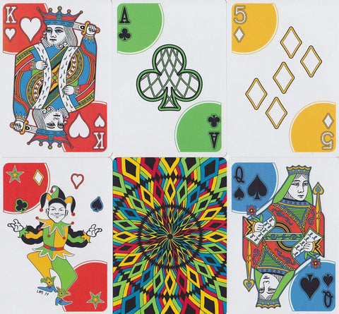 Rainbow Illusion V2 Playing Cards