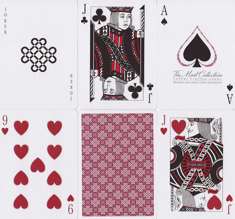 Raspberry Mint Playing Cards by 52Kards