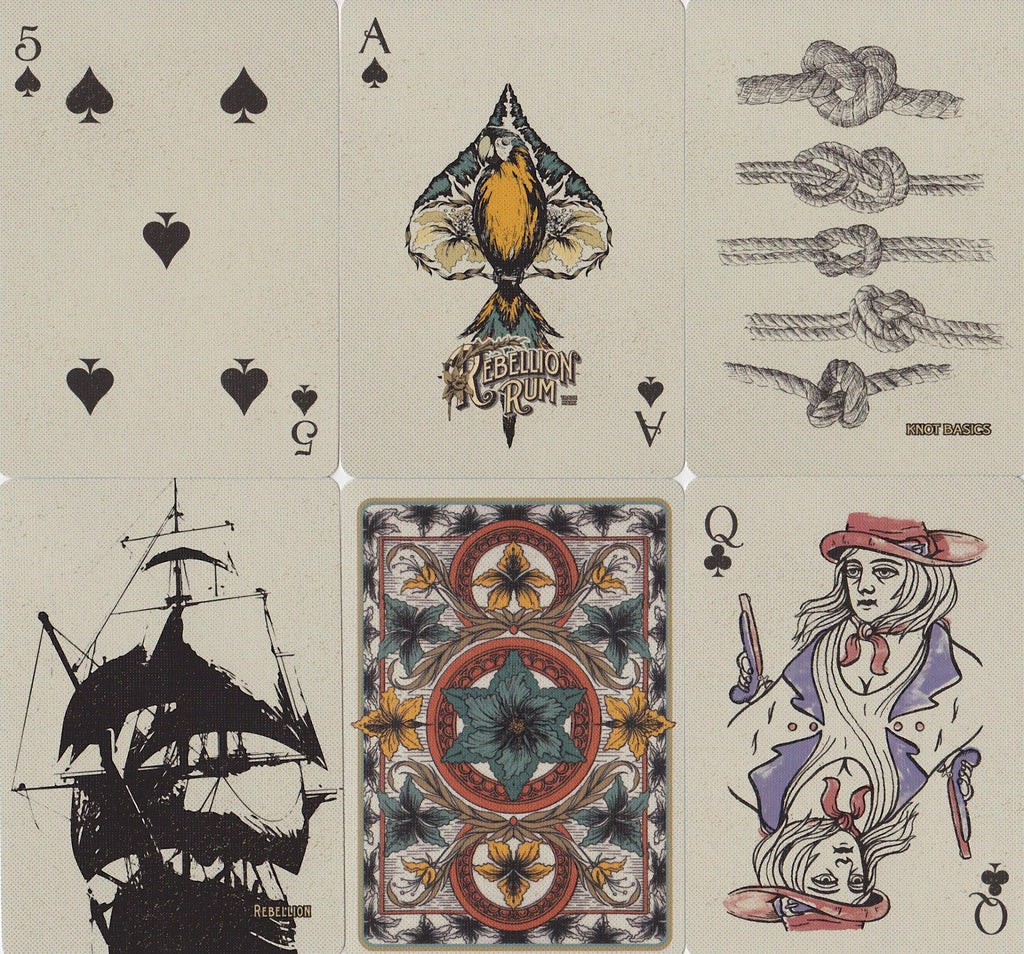 Rebellion Rum Playing Cards - RarePlayingCards.com - 9