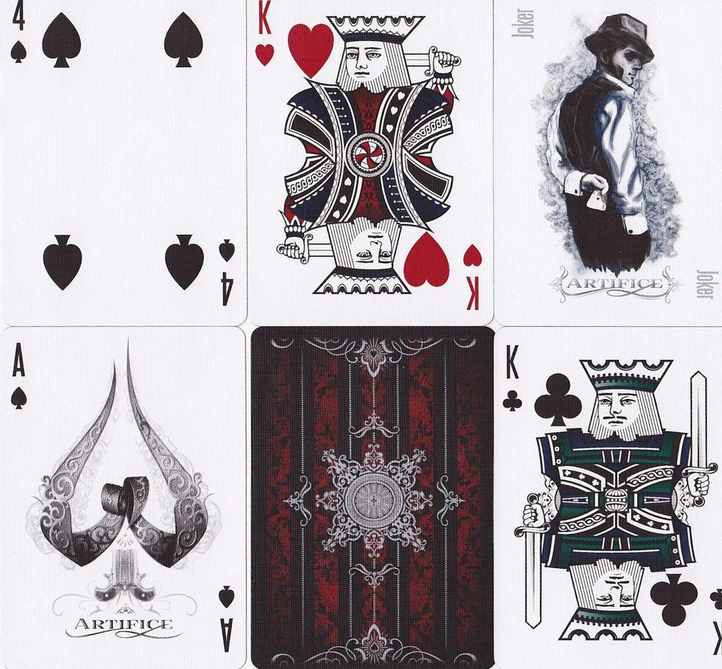 Red Artifice Playing Cards by Ellusionist