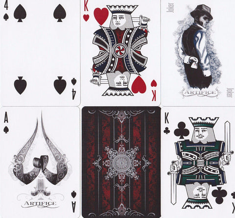 Red Artifice Playing Cards - RarePlayingCards.com - 1