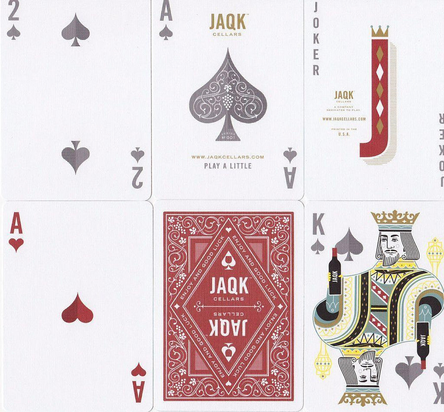 Red JAQK Playing Cards by Theory11