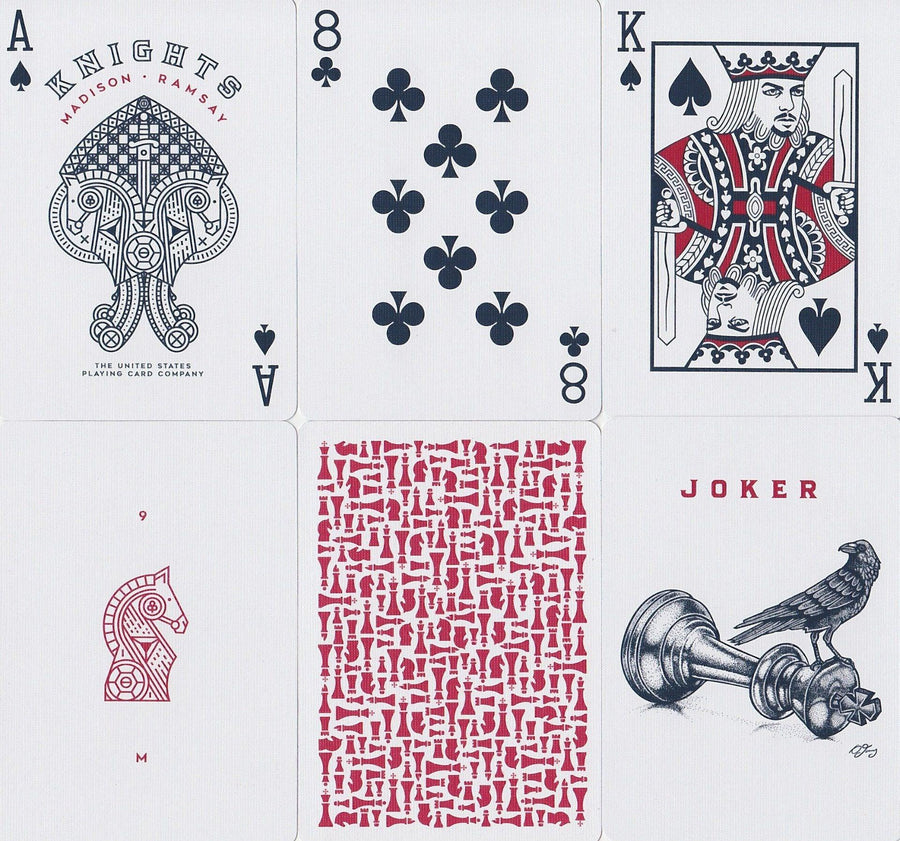 Red Knights Playing Cards by Ellusionist