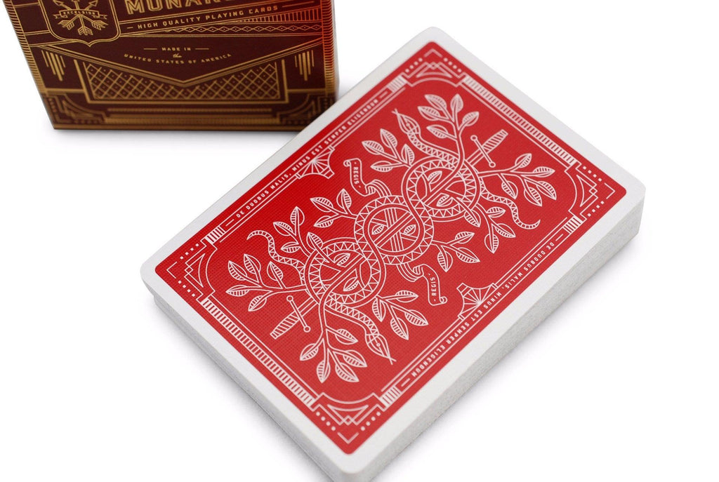 Red Monarchs 2nd Ed. Playing Cards - RarePlayingCards.com - 1