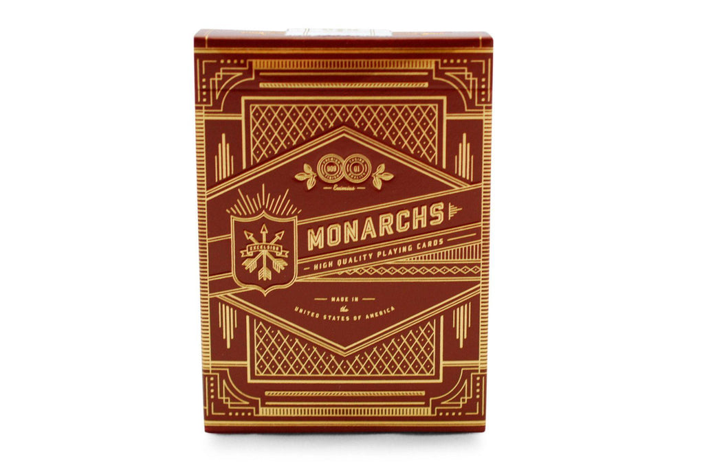 Red Monarchs 2nd Ed. Playing Cards - RarePlayingCards.com - 2