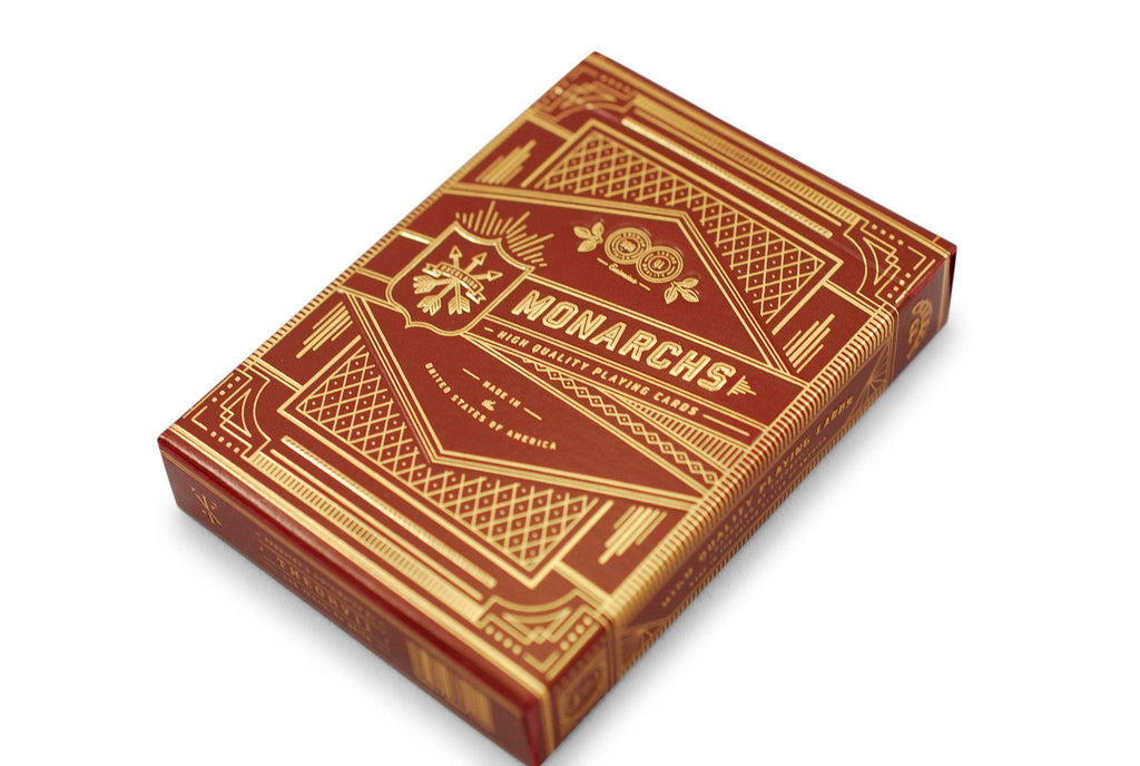 Red Monarchs 2nd Ed. Playing Cards - RarePlayingCards.com - 4