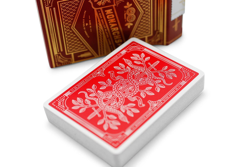 Red Monarchs 2nd Ed. Playing Cards - RarePlayingCards.com - 5