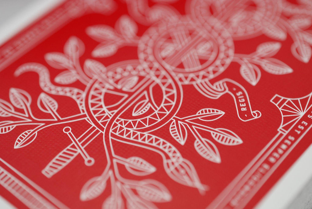 Red Monarchs 2nd Ed. Playing Cards - RarePlayingCards.com - 6