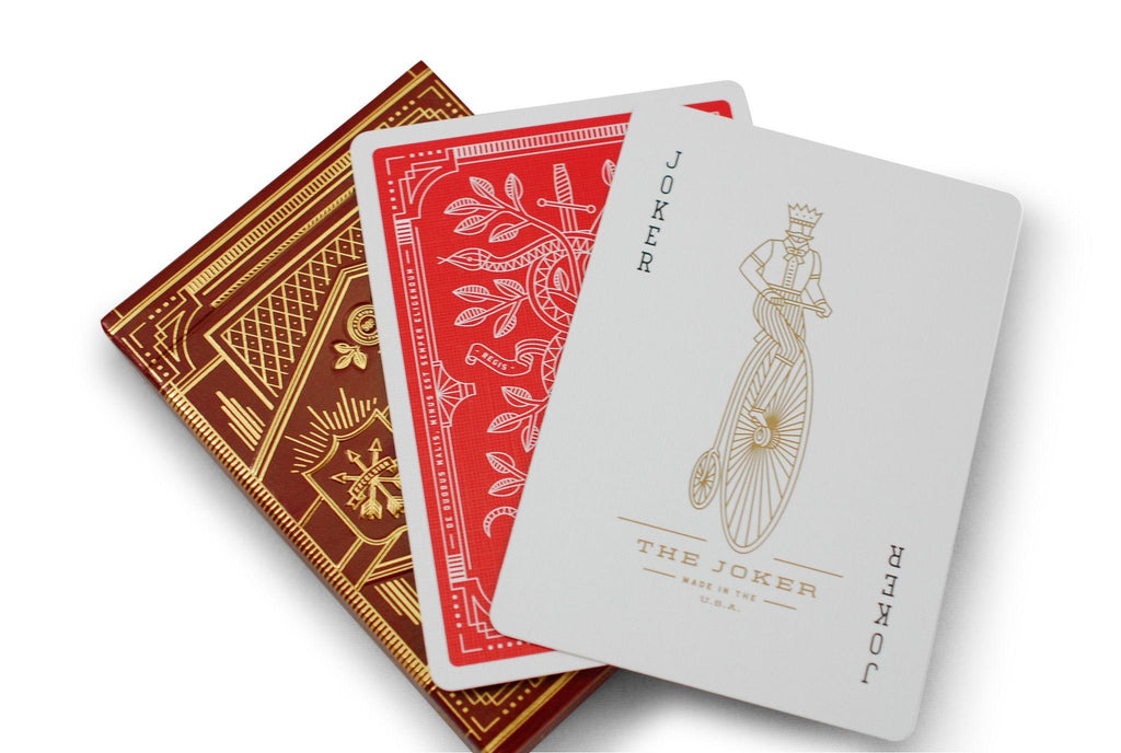 Red Monarchs 2nd Ed. Playing Cards - RarePlayingCards.com - 8