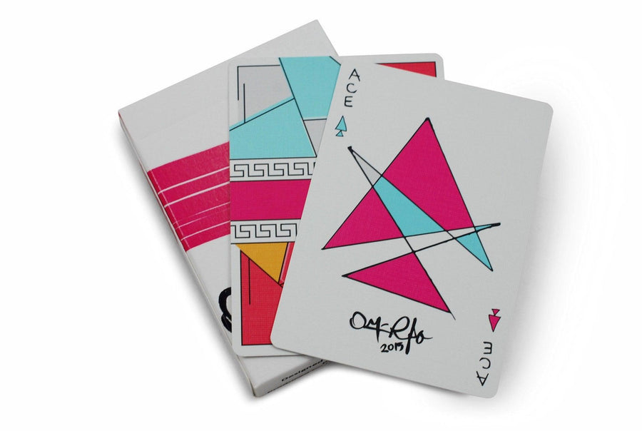 Red Stripe Playing Cards by Hanson Chien