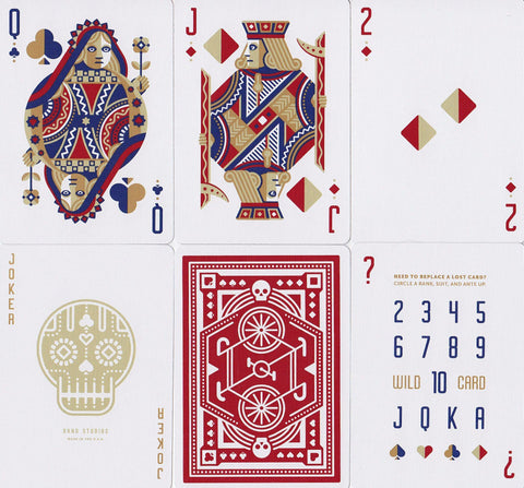 Red Wheel Playing Cards - RarePlayingCards.com - 1