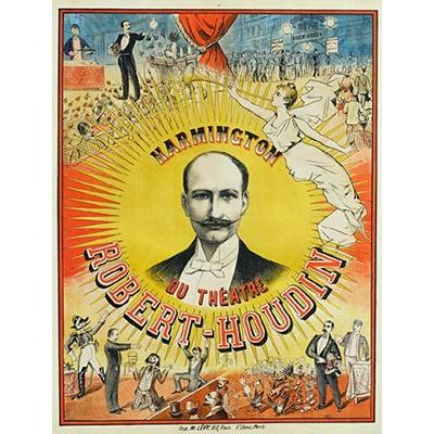 Robert Houdin Theatre Poster Playing Cards by RarePlayingCards.com
