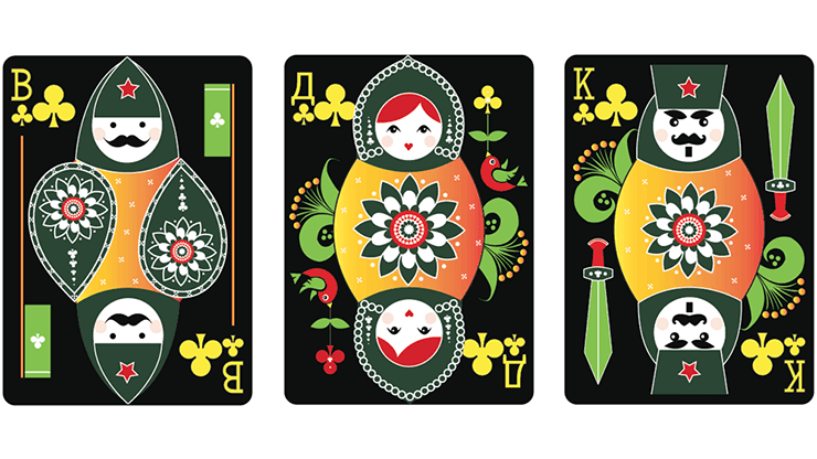 Russian Folk Art Limited Edition (Black) Playing Cards by US Playing Card Co.