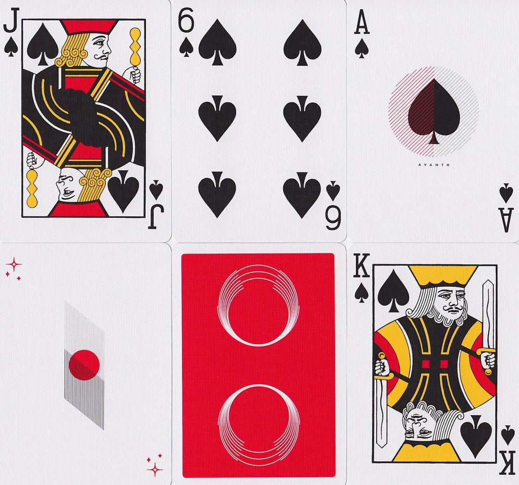 Saturn: Red October Playing Cards - RarePlayingCards.com - 8