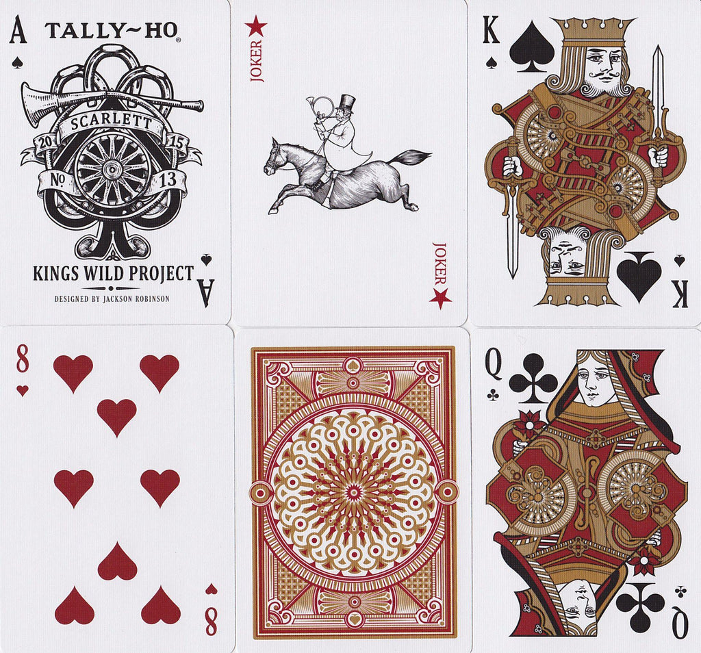 Scarlett Tally Ho Playing Cards - RarePlayingCards.com - 11