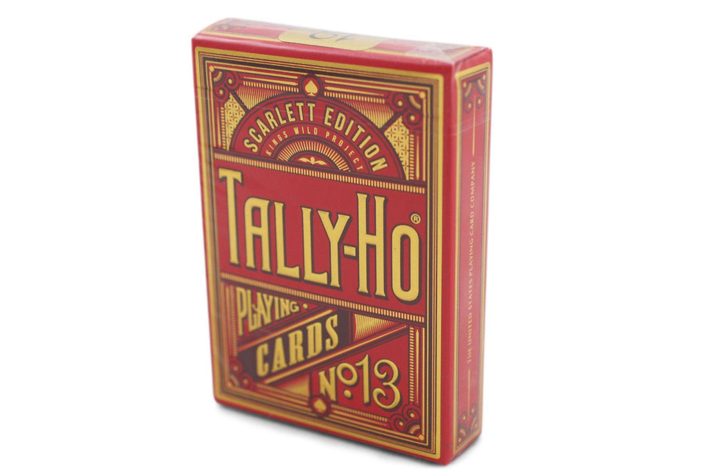 Scarlett Tally Ho Playing Cards - RarePlayingCards.com - 2