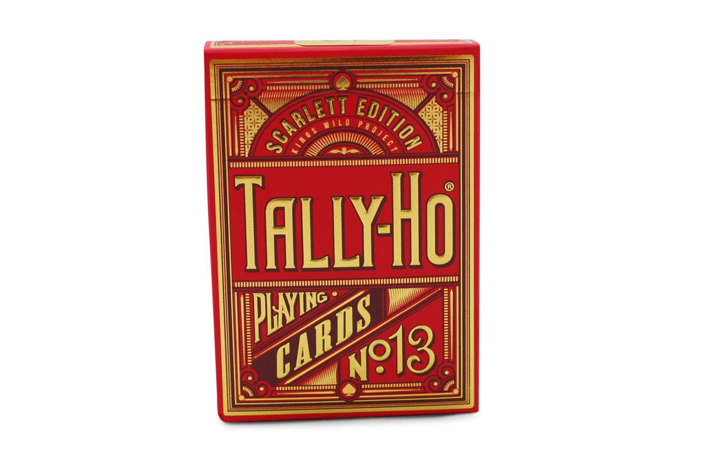 Scarlett Tally Ho Playing Cards - RarePlayingCards.com - 5