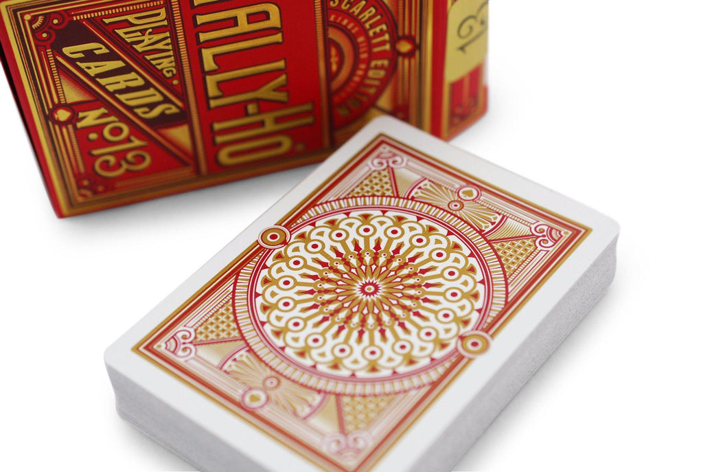 Scarlett Tally Ho Playing Cards - RarePlayingCards.com - 7
