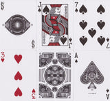 Silver Steampunk Playing Cards - RarePlayingCards.com - 10
