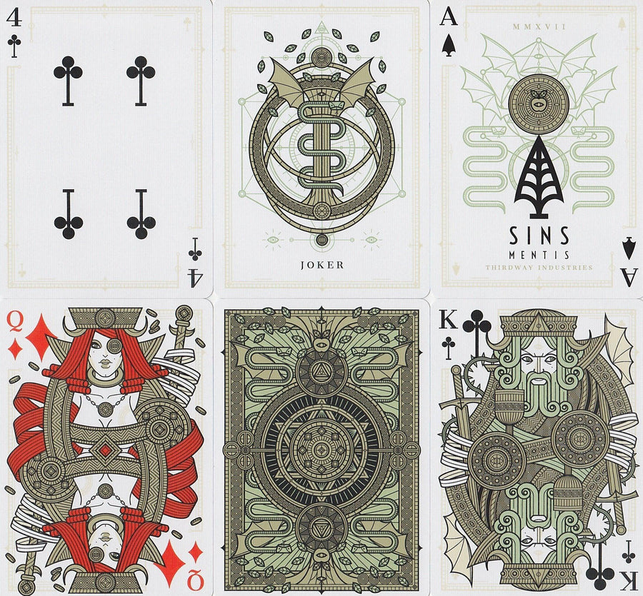 SINS Mentis Playing Cards by Thirdway Industries