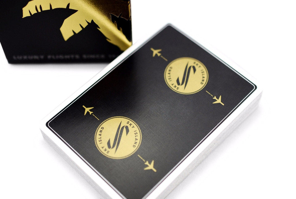 Sky Island Black Playing Cards - RarePlayingCards.com - 1