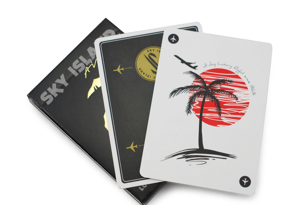 Sky Island Black Playing Cards - RarePlayingCards.com - 7