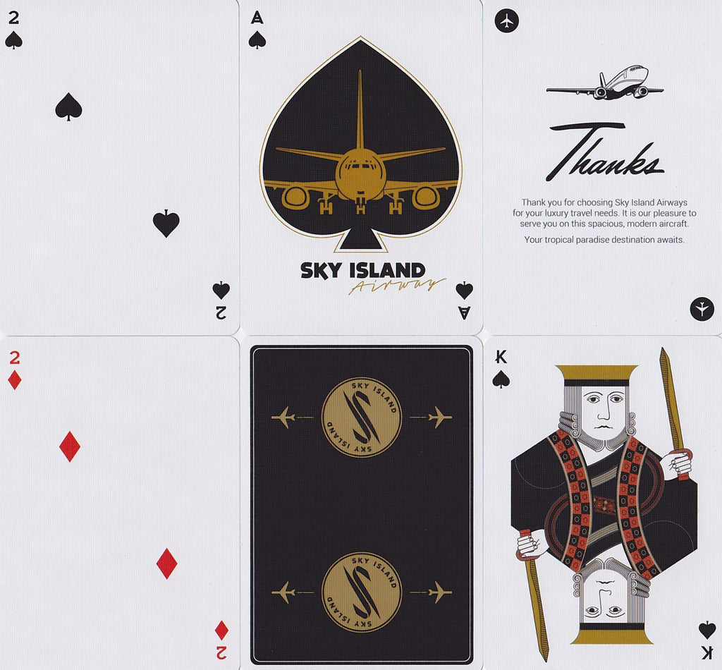 Sky Island Black Playing Cards