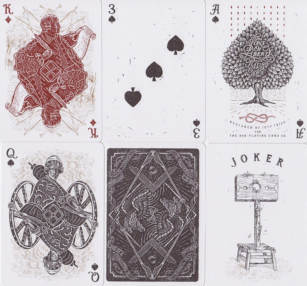 Sons of Liberty Playing Cards by Dan & Dave