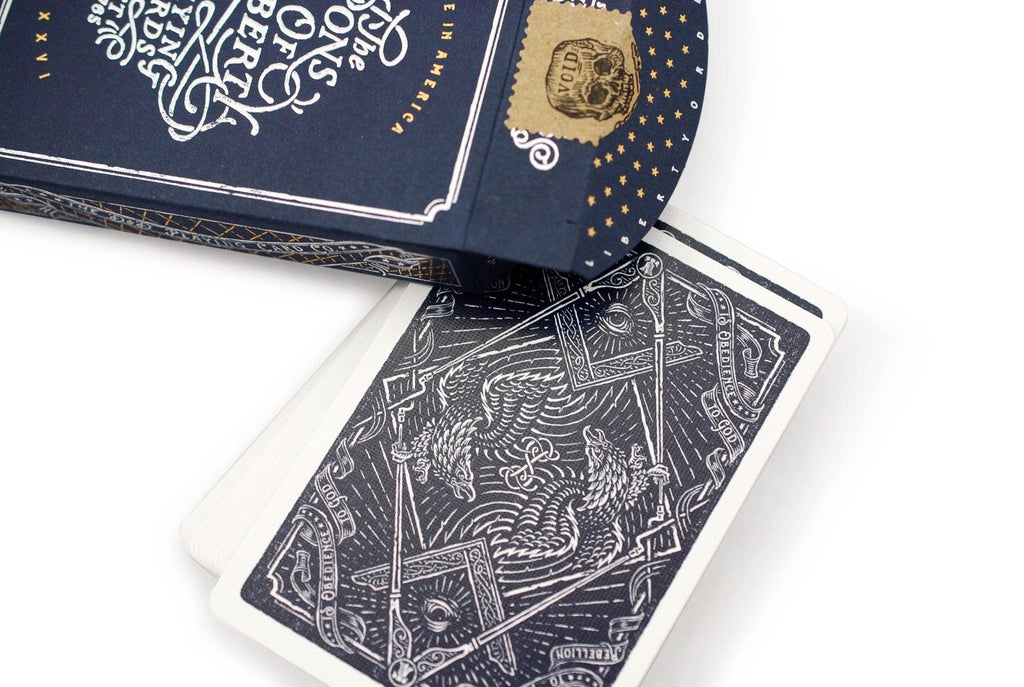 Sons of Liberty, Patriot Blue Playing Cards - RarePlayingCards.com - 6