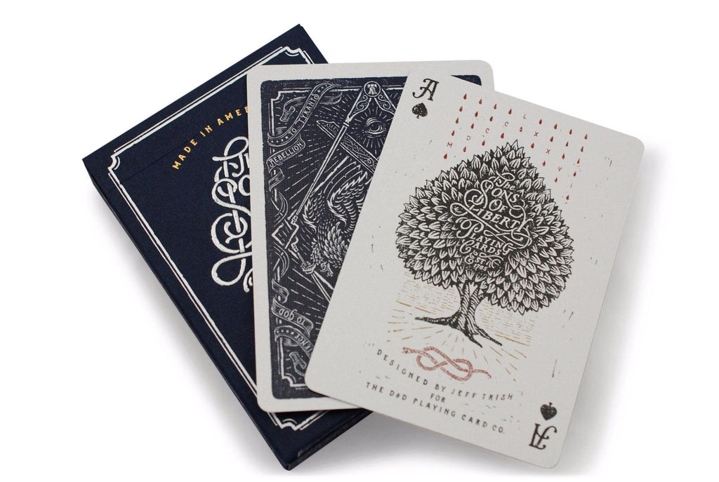 Sons of Liberty, Patriot Blue Playing Cards - RarePlayingCards.com - 8