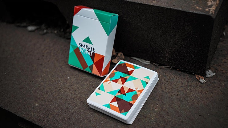 Sparkle Point: Green Playing Cards by US Playing Card Co.