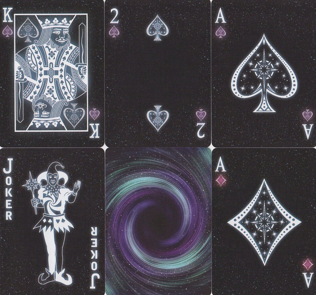 Starlight Black Hole Playing Cards - RarePlayingCards.com - 10