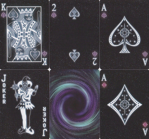 Starlight Black Hole Playing Cards - RarePlayingCards.com - 1