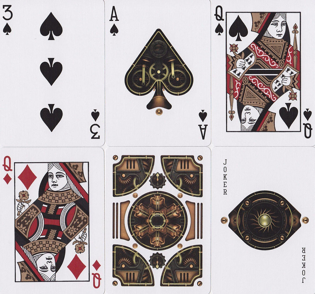 Steampunk Playing Cards - RarePlayingCards.com - 10