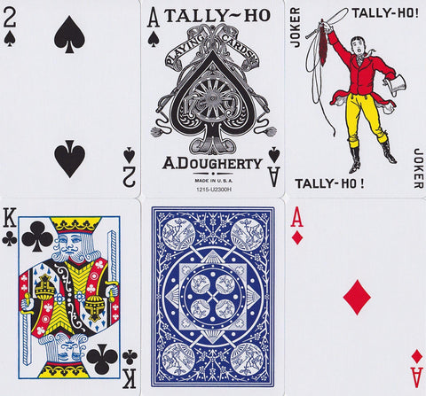 Tally Ho Fan Back Playing Cards - RarePlayingCards.com - 1