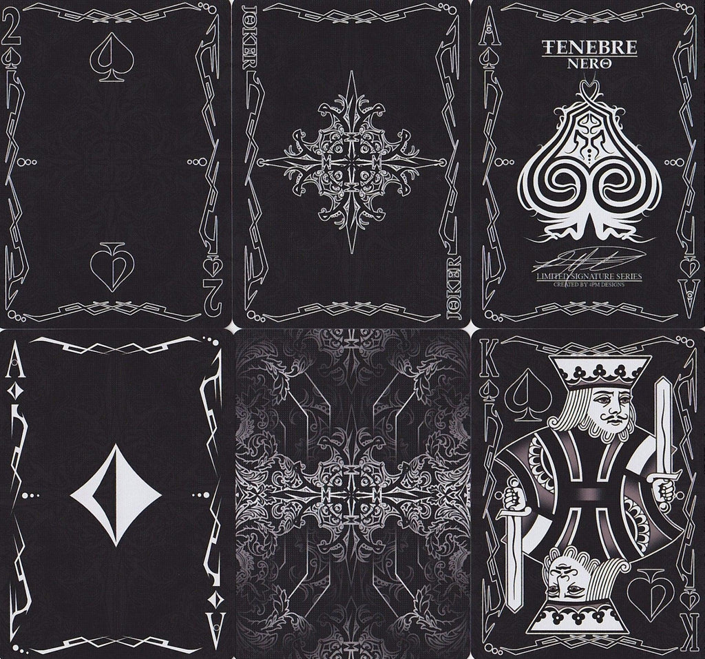 Tenebre Nero Playing Cards - RarePlayingCards.com - 7