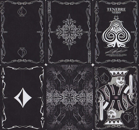 Tenebre Nero Playing Cards - RarePlayingCards.com - 1
