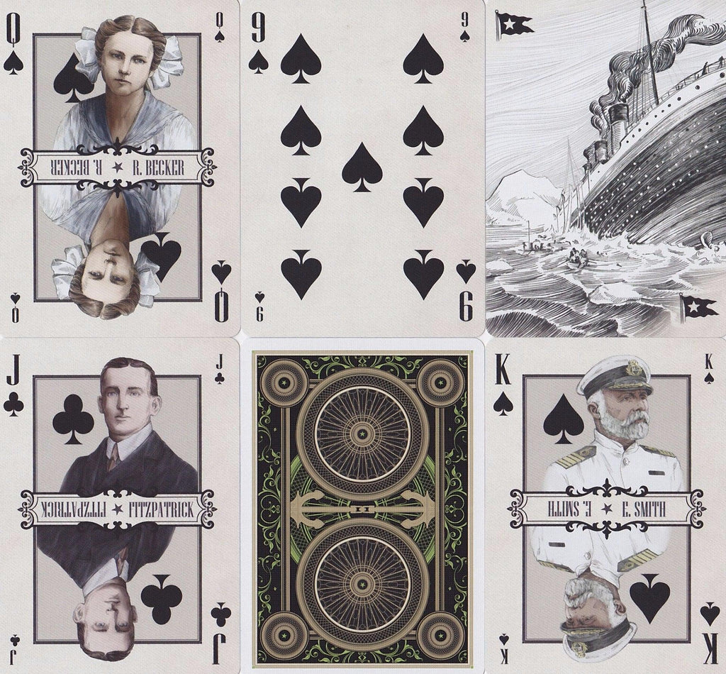 Titanic Playing Cards - RarePlayingCards.com - 10